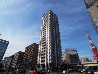 サンウッド三田パークサイドタワーの外観