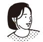写真:真剣に考える様子の横顔の女性ウーマンの写真